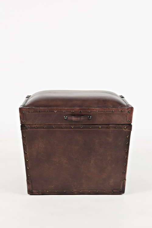 Global Archive Leather Storage Chest With Lift Top