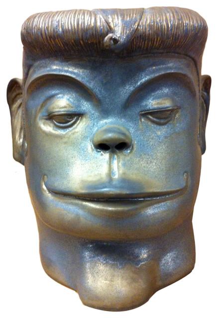Monkey Face Ceramic Stool