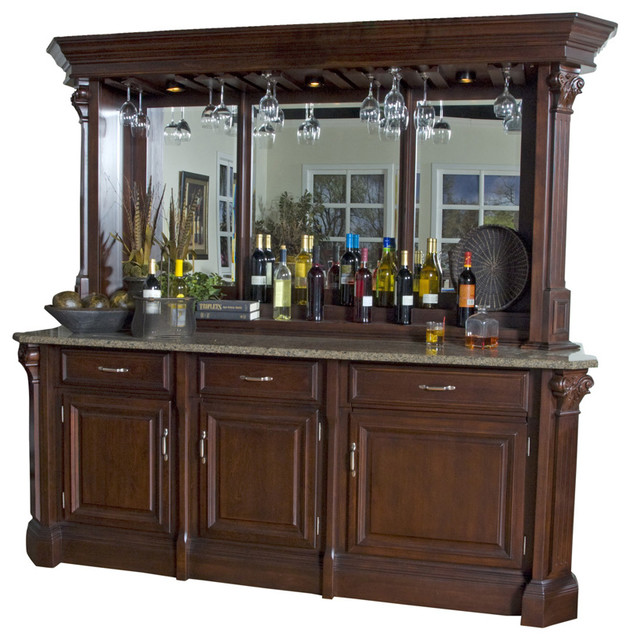 American Heritage Bella Back Bar With Hutch In Mojave