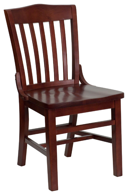 MFO Finished School House Back Wooden Restaurant Chair