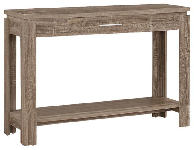 Xanti Sofa Table Dark Taupe Farmhouse Console Tables by Acme Furniture