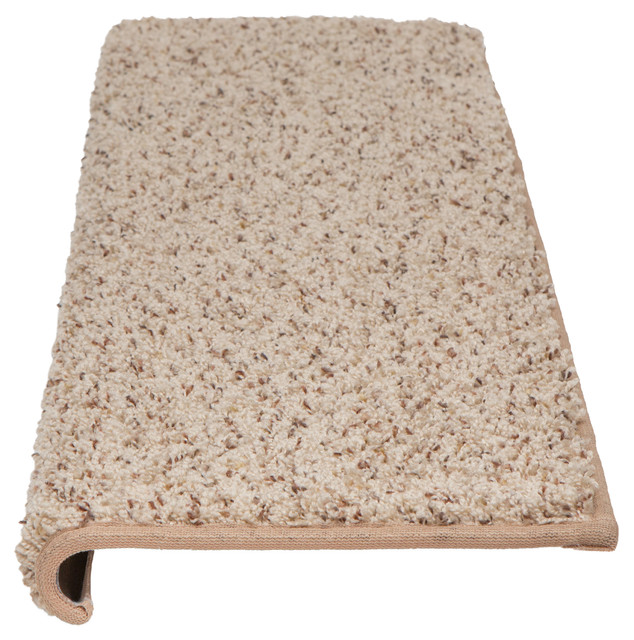 Windsor adhesive bullnose carpet stair tread with padding for Jardin stair treads