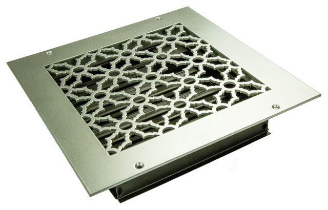 Traditional Solid Steel Supply Vent, Black, 9x9 Supply.