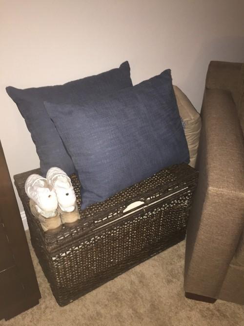 Decorative Pillow Storage