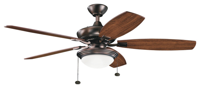 52 Canfield Select Fan Led, Oil Brushed Bronze/cherry And Walnut Blades.