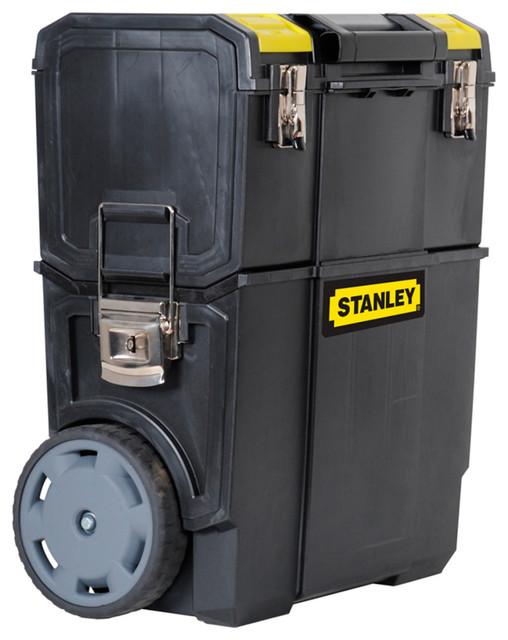 Plastic Stanley Mobile Work Centre, Black
