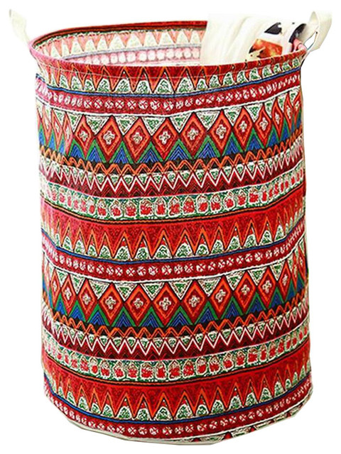 Past Style Foldable Laundry Basket Hamper Toy Storage Red Southwestern Hampers By Blancho Bedding