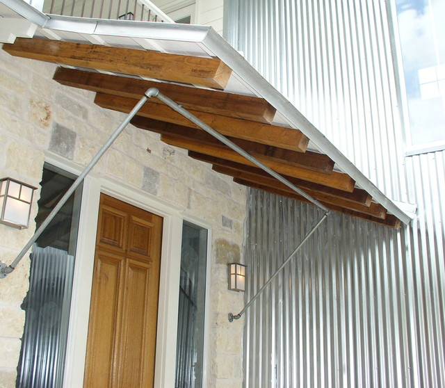 Entry Porch Shed Roof And Brackets Contemporary
