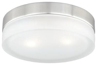 Vaxcel Lighting Loft 2 Light Flush Mount Indoor Ceiling Fixture.