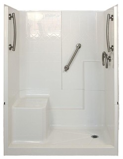 Freedom 32 Quot X60 Quot X77 Quot 3 Piece Low Threshold Shower Stall