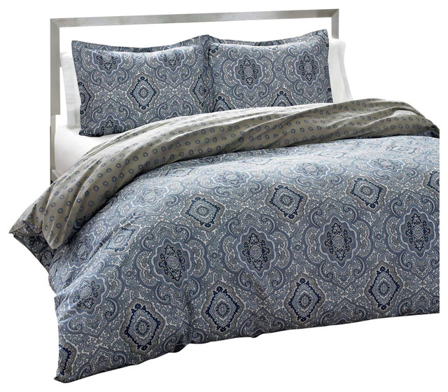 King 3 Piece Cotton Comforter Set With