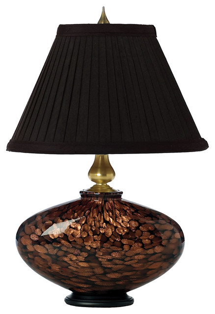 Cache 1 Light Table Lamp In Black W Gold Glitter Brushed Gold