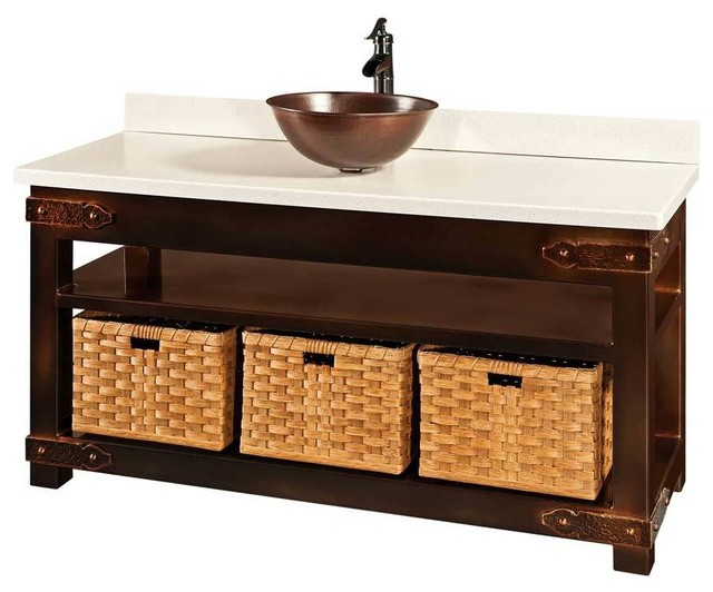 Regina Bathroom Vanity Farmhouse Bathroom Vanities And Sink Consoles By Amish Showroom