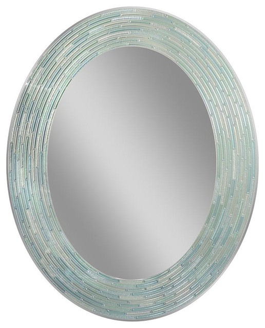 """Reeded Sea Glass Mirror, 23""""x29"""""""