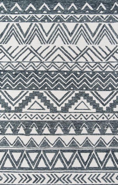 Momeni Mallorca Wool Hand Hooked Charcoal Area Rug 8'x10'