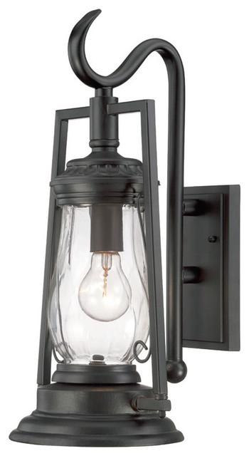 Kero Collection Wall-Mount 1-Light Outdoor Matte Black Light Fixture.