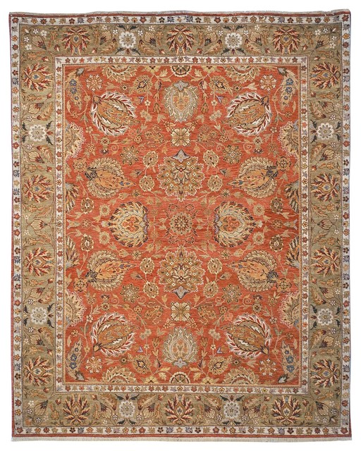 Old World Brown/Green Area Rug OW117A