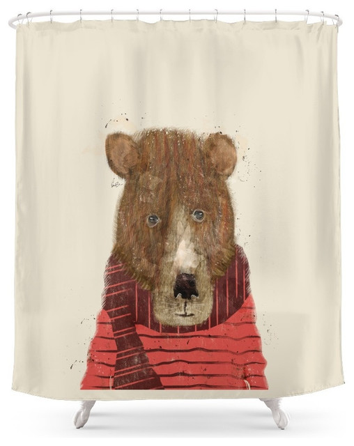 Bear Shower Curtain Contemporary Shower Curtains By Society6