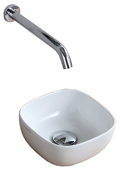 9 Small Round Ultra Thin Ceramic Vessel Sink.
