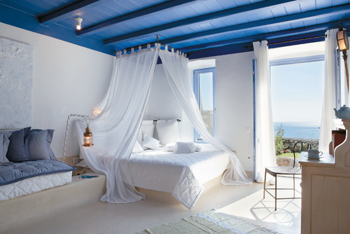 Camera da letto vista mare 3d | Scaricare PSD Premium