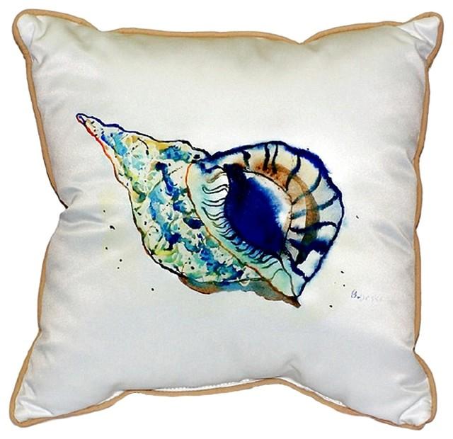 Shell Extra Zippered Indoor Outdoor Pillow