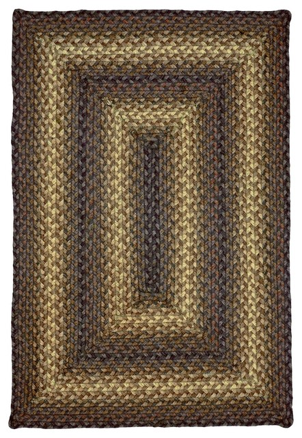 Jute Kenya Rectangle Brown Braided Rug Farmhouse Area Rugs by Super Are