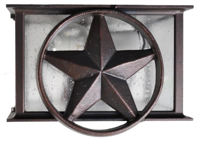 Americana Lone Star Flush Mount, Old Iron.