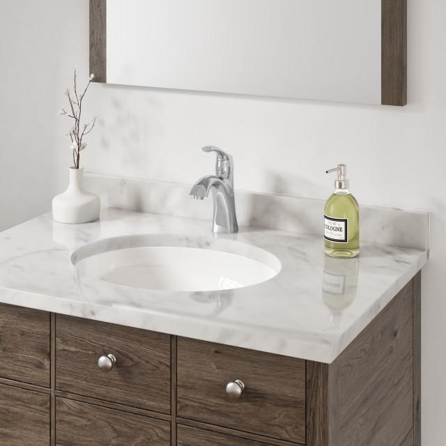 10 X13 X7 Porcelain Oval Undermount Bathroom Vanity Sink White Contemporary Bathroom Sinks By Allora Usa Houzz