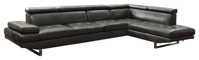 Coaster Piper Sectional, Charcoal