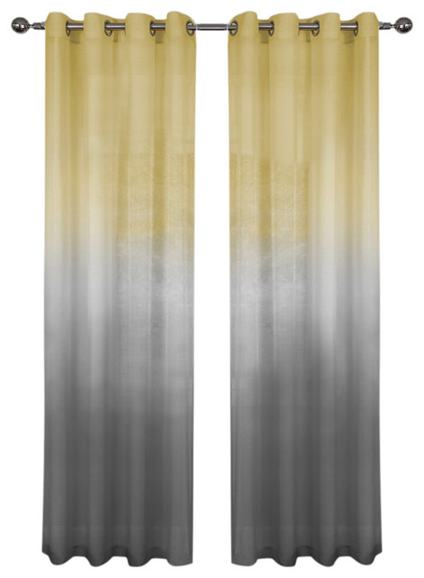 Rainbow Single Grommet Panel Contemporary Curtains