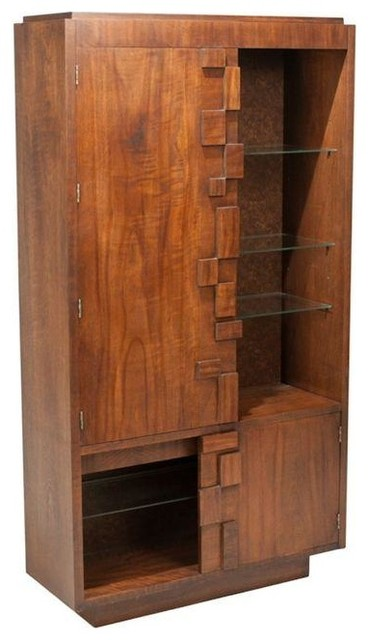 Mid-Century Modern Brutalist Cabinet by Lane - China Cabinets And ...