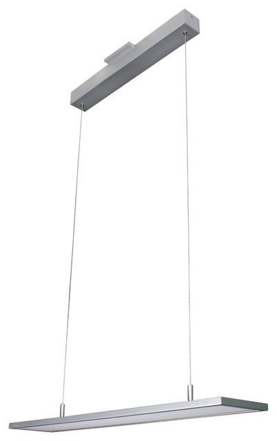 "Atria Adjustable Led Chandelier, Silver, 33""."