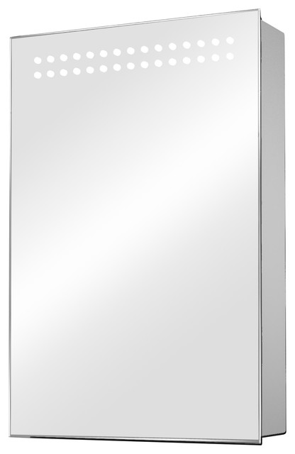 Sensor Mirrored Medicine Cabinet With Led Double Top Lights.