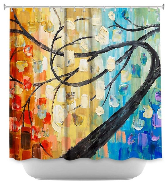 Shower Curtain Unique From Dianoche Designs Abstract Tree