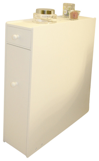 Bathroom Marketplace Proman Bathroom Free Standing White Cabinet - Bathroom Cabinets And Shelves ...