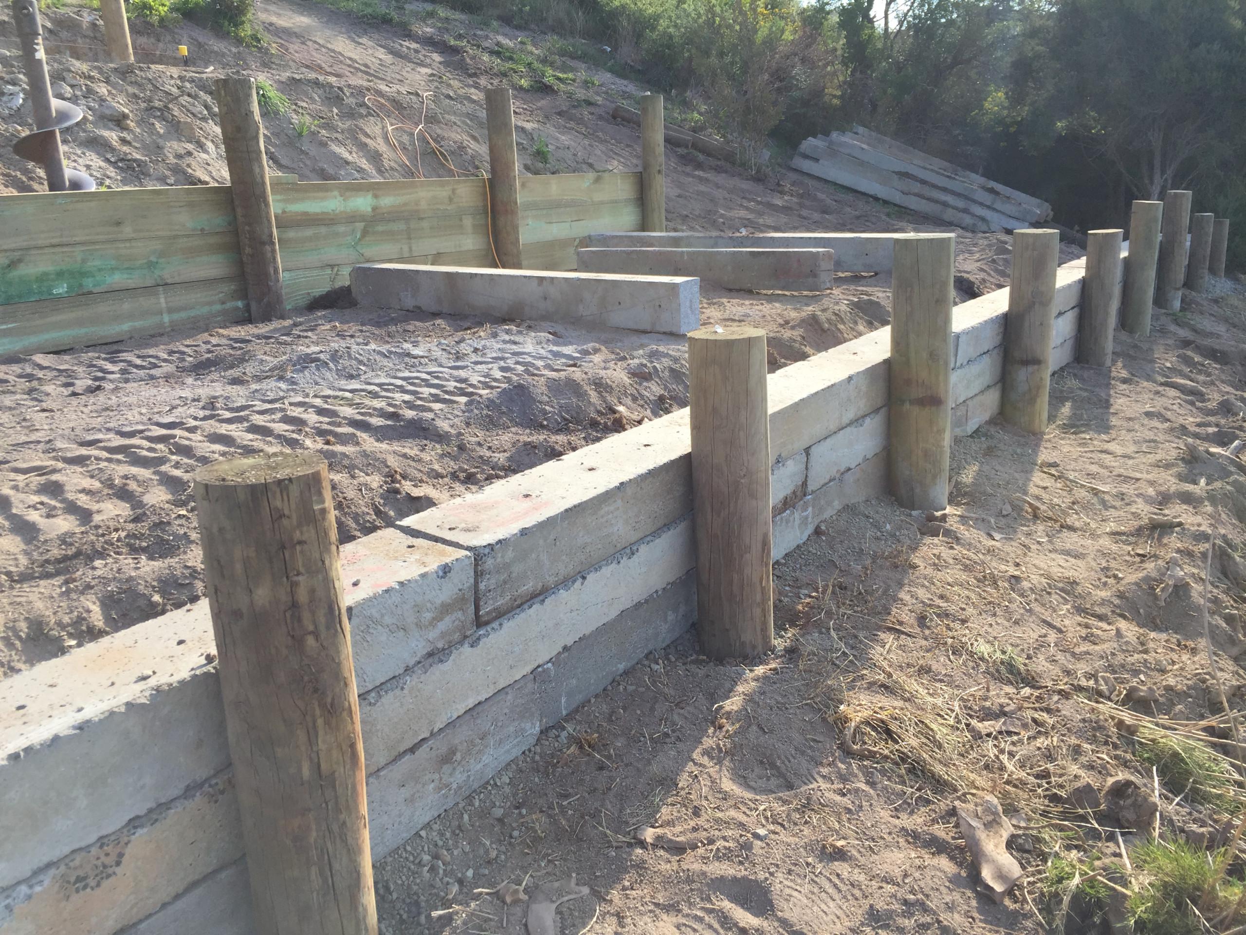 St Helens Retaining Wall
