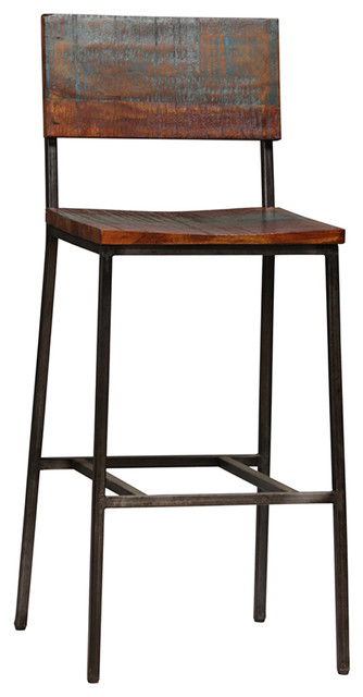 Reclaimed Wood And Iron Bar Stool Stools Counter By Design Mix Furniture