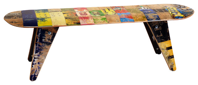 Recycled Skateboard Bench, 60