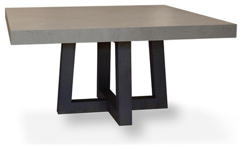 torre square concrete dining table white linen 42x42 modern dining tables - Square Dining Table