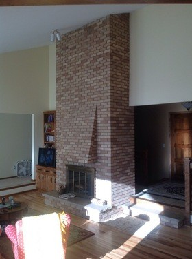 Big Fireplace Resurfacing Ideas