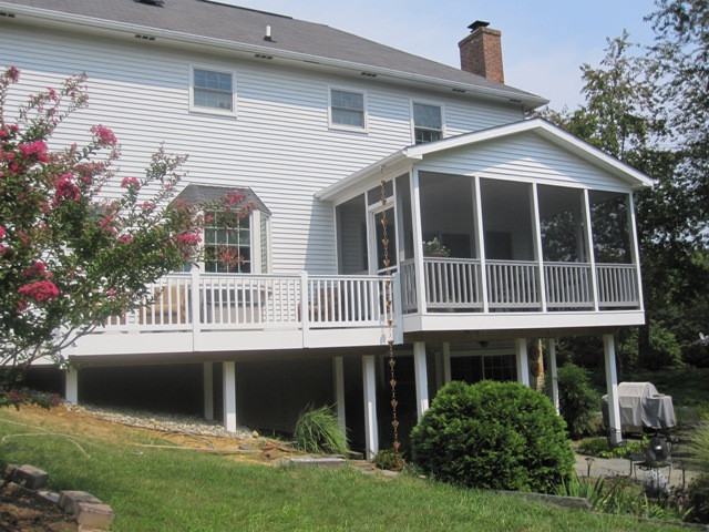 Screened-in porch and deck