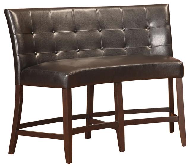 Bossa Counter H8-Banquette, Black Leatherette.