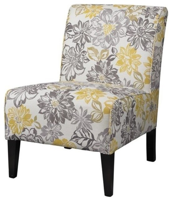 Atlin Designs Bridey Accent Chair Yellow And Gray Armchairs And Accent Cha