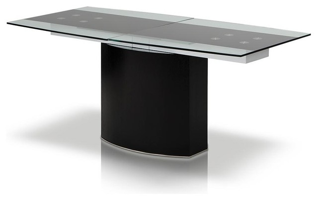 Remix 71 Black Tinted Gl Extendable Dining Table