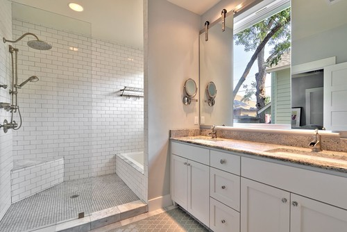 Are the barn door mirrors covering a concealed medicine cabinet?
