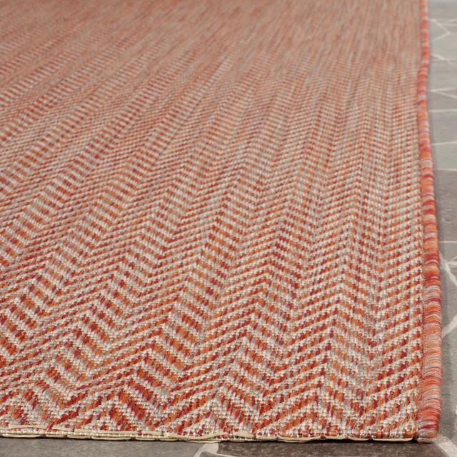 Catalonia Indoor/outdoor Rug, Red/beige, 5&x27;3x7&x27;7.
