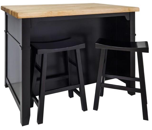 Jeffrey Alexander Conversation Kitchen Island In Espresso (ISL13 ESP ST)  Contemporary