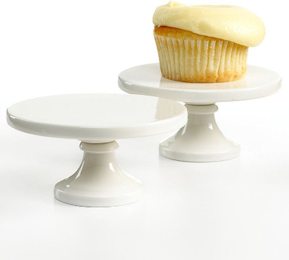 Martha Stewart Collection Set of 2 Mini Cake Stands contemporary serveware