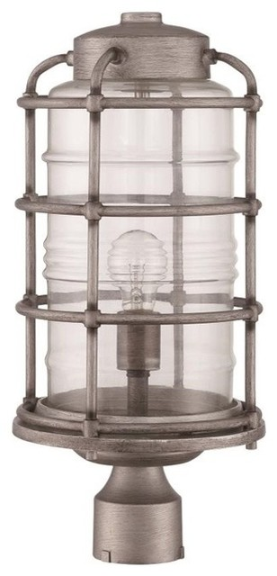 Craftmade Z2135-16 Hadley Outdoor Post Light, Aged Galvanized.