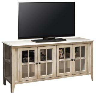 Calistoga Tv Console White Beach Style Entertainment